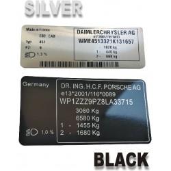 BMW VIN Label